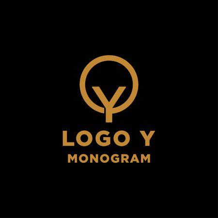 luxury initial y logo design vector icon element