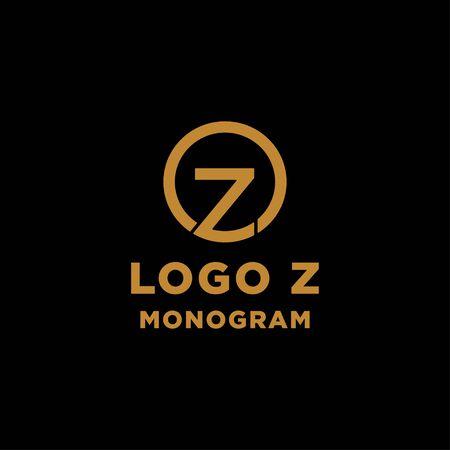 luxury initial z logo design vector icon element Ilustração