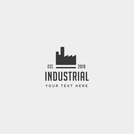 gear factory logo design industrial vector icon isolated