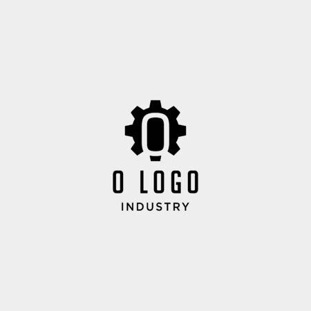 gear machine logo initial o industry vector icon design
