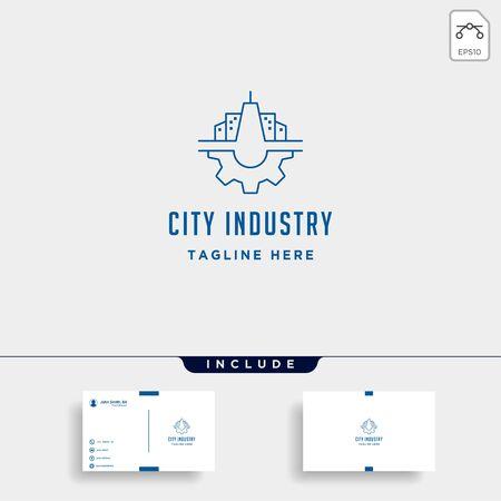 City Gear Logo Vector Industrial symbol icon design illustration