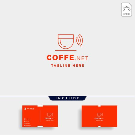 coffee wifi logo design vector cafe internet icon sign symbol isolated