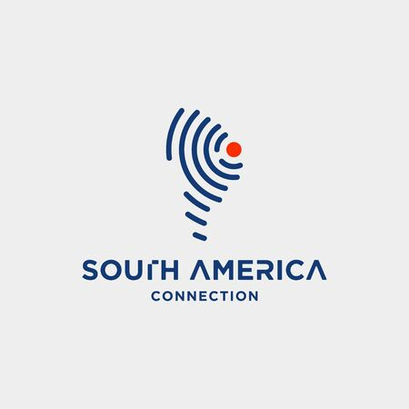 south america signal logo design vector internet wifi symbol icon illustration