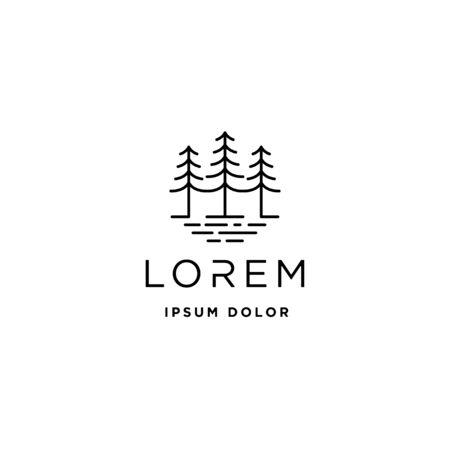 Forest Logo Vector design landscape symbol