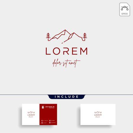 Mountain Logo Vector design landscape symbol