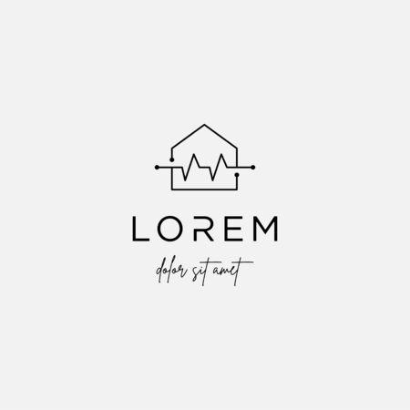 home cross logo design vector isolated icon