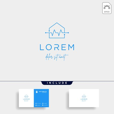 home cross logo design vector illustration Illustration