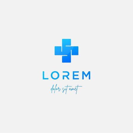 cross medical logo design vector illustration