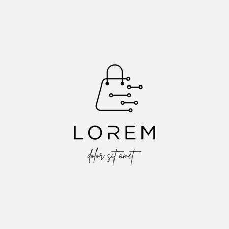 Digital Shop Logo Template Vector Icon Design Иллюстрация