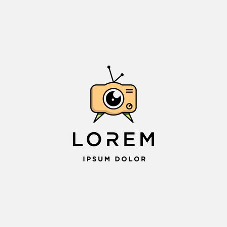 Camera Movie Film Logo Template Vector Icon Design