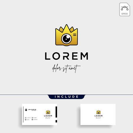 King Camera Logo Template Vector Design Icon