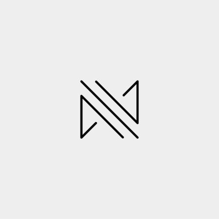 Letter M MM Monogram Logo Design Minimal Icon With Black Color