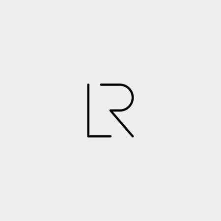 Letter R L RL LR Logo Design Simple Vector Elegant