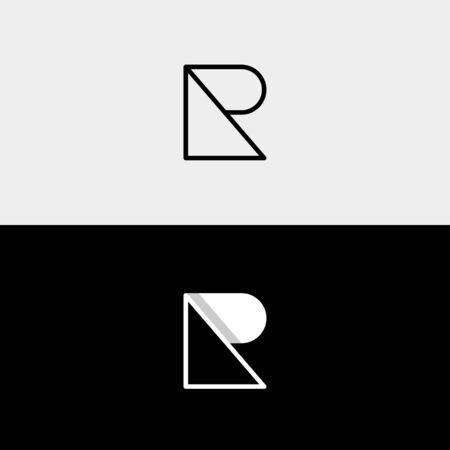 Letter R P RP PR Logo Design Simple Vector Elegant