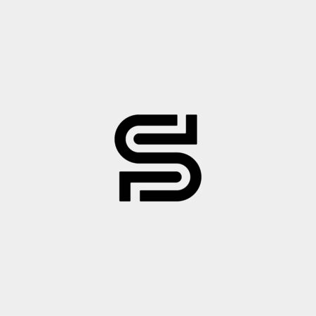 Letter S SS Logo Design Simple Vector Elegant