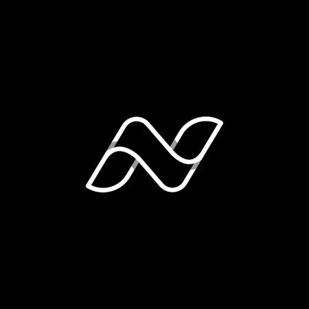 Letter N NN Logo Design Simple Vector Elegant