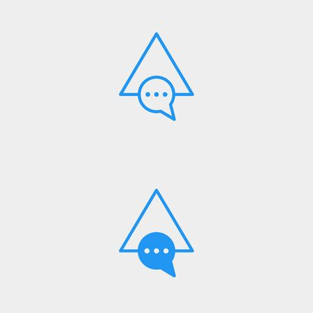 Letter A AA Chat Talk Logo Template Vector Design Message Icon