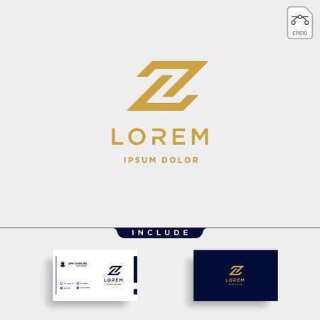 Letter Z ZZ Monogram Logo Design Minimal Icon With Black Color Logó
