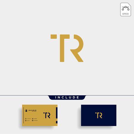 Letter TR RT T R Logo Design Simple Vector Elegant