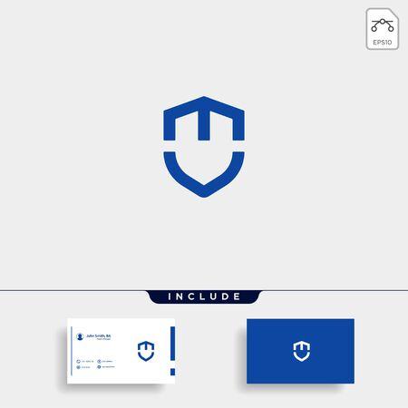 Initial MV M V Shield Logo Template Vector Design Guard Icon