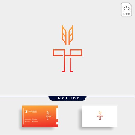 Initial T Torch Logo Template Vector Design Flame Icon