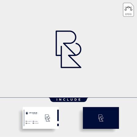 Letter RR R Logo Design Simple Vector Elegant
