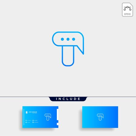 Letter T Chat Logo Template Vector Design Message Icon Stok Fotoğraf - 133783159