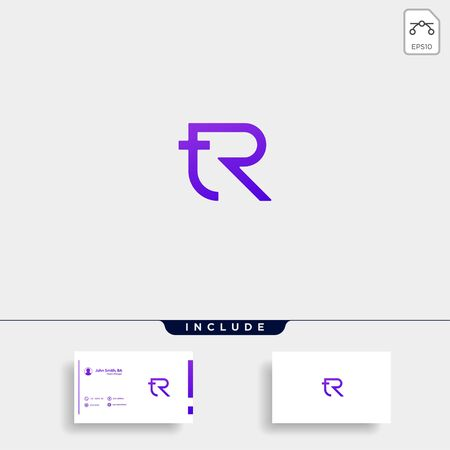 Letter TR RT R T Logo Design Simple Vector Elegant Stok Fotoğraf - 133783161