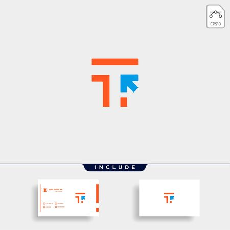 Initial T Click Pointer Logo Template Vector illustration