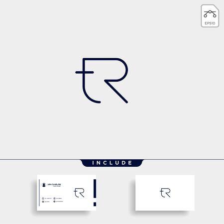 Letter TR RT R T Logo Design Simple Vector Elegant