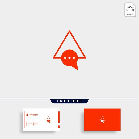 Letter A Chat Logo Template Vector Design Message Icon Stok Fotoğraf - 133783171