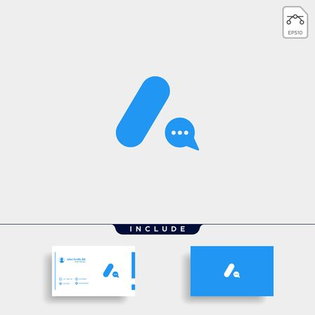 Letter A Chat Logo Template Vector Design Message Icon