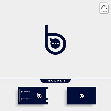 Letter B Chat Talk Logo Template Vector Design Message Icon Stok Fotoğraf - 133783259