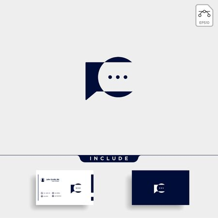 Letter C Chat Talk Logo Template Vector Design Message Icon Stok Fotoğraf - 133783260