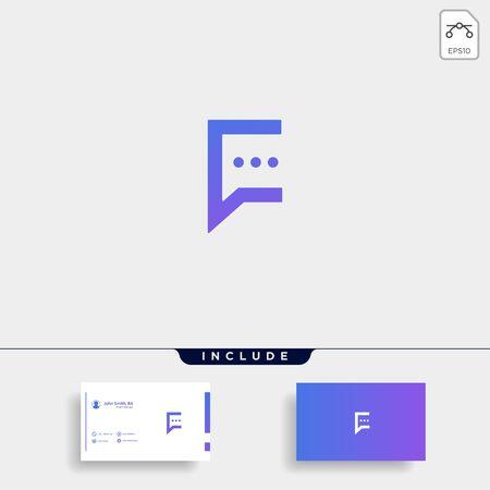 Letter C Chat Talk Logo Template Vector Design Message Icon Ilustração
