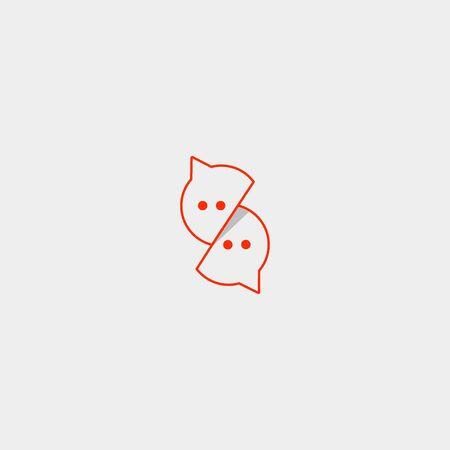 Letter S Chat Vector Template Logo Design