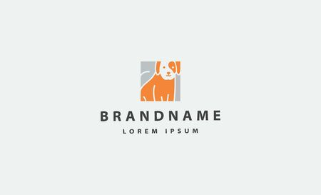 Dog Pet Simple Logo Vector Design Icon 向量圖像