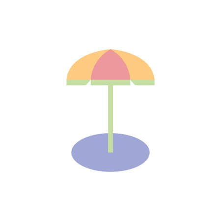 Umbrella Summer Clipart Vector Design Isolated 向量圖像