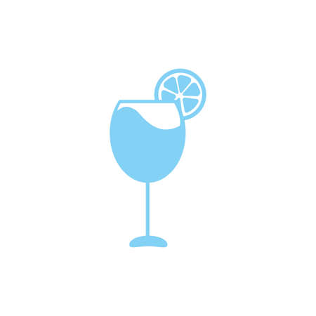 Summer Juice Drink Icon Clipart Vector Design Isolated 向量圖像