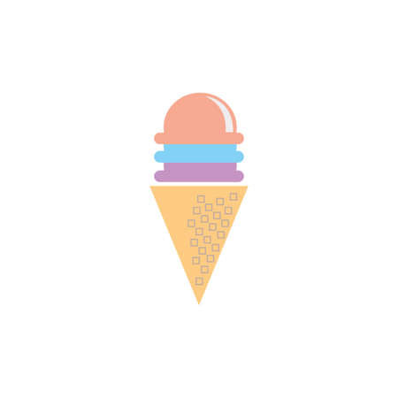 Ice Cream Summer Icon Clipart Vector Design Isolated