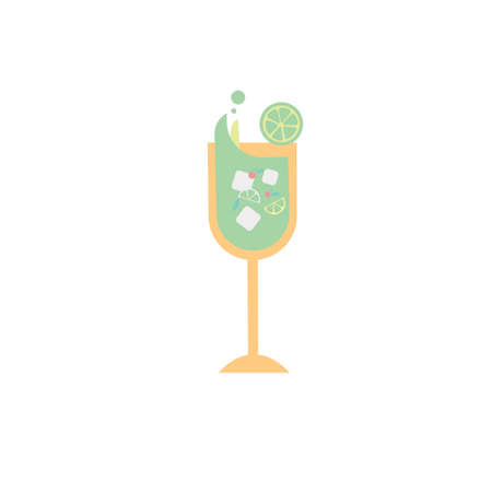 Summer Juice Drink Icon Clipart Vector Design