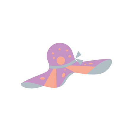 Summer Hat Woman Clipart Vector Design Isolated