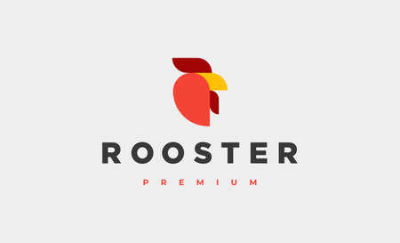Chicken Rooster Simple Logo Design Vector Illustration