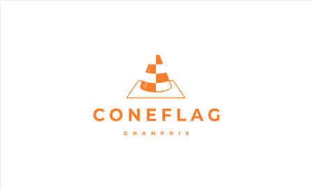 traffic cone logo icon vector design illustration Ilustração