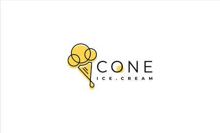ice cream cone logo Design Vector illustration