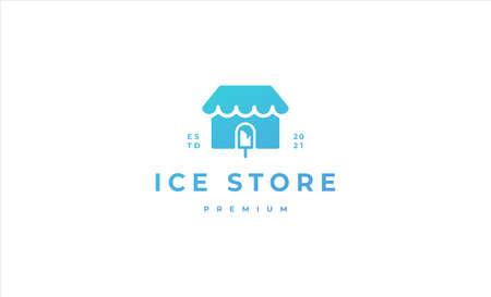home ice cream store logo