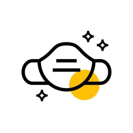 masker protection vector icon design illustration