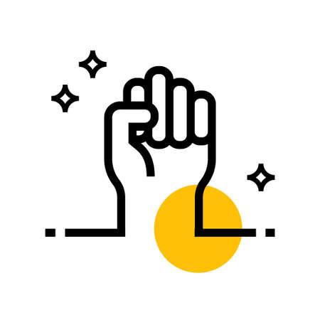 Freedom Hand Vector icon Design Ilustração