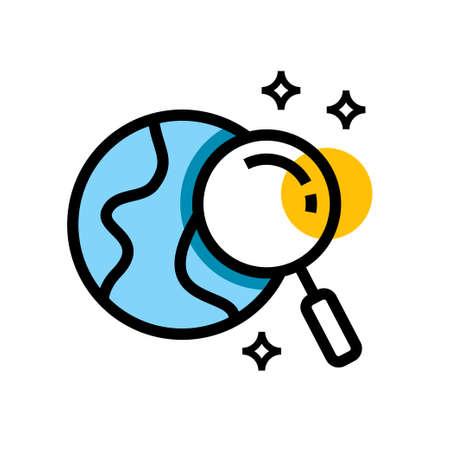 Globe Search Vector icon design Illustration