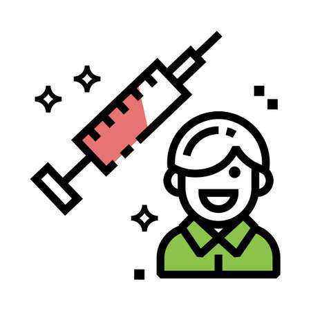Human Injection Vector Icon design
